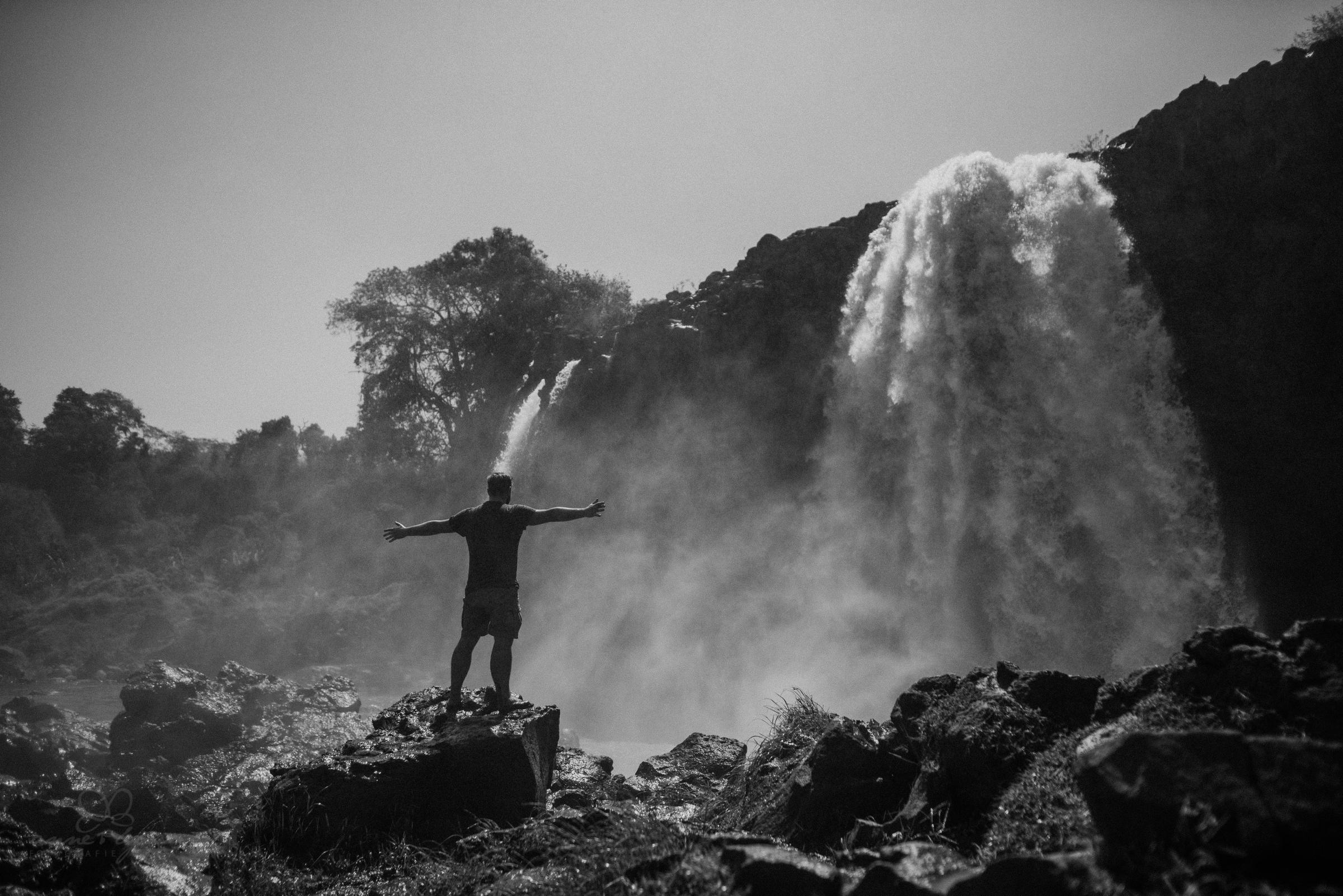 Wasserfall, Bahir Dar, Bahia Dar, Portrait, Abenteuerlust