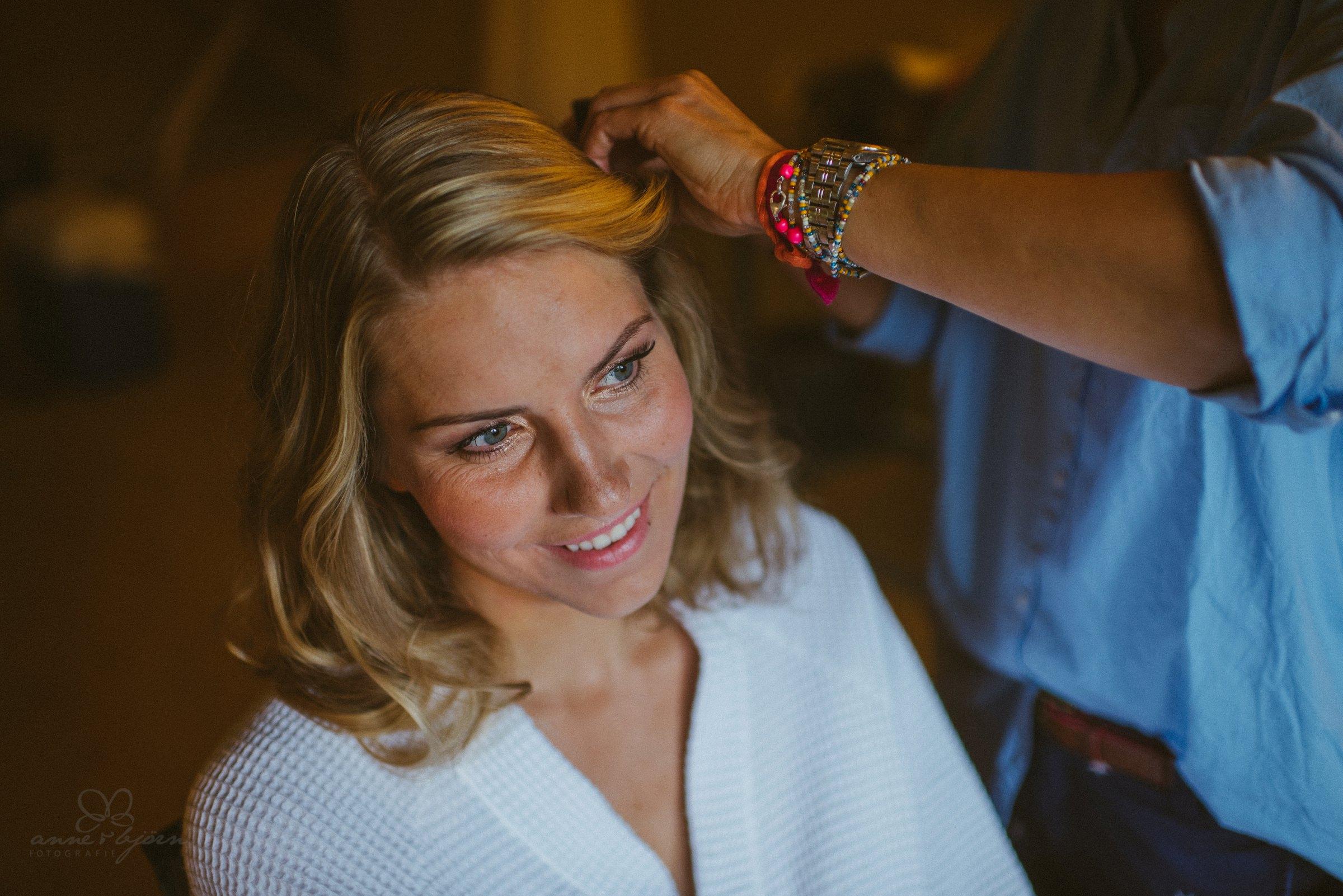 Visagist, make-up, Hochzeit, fertig machen