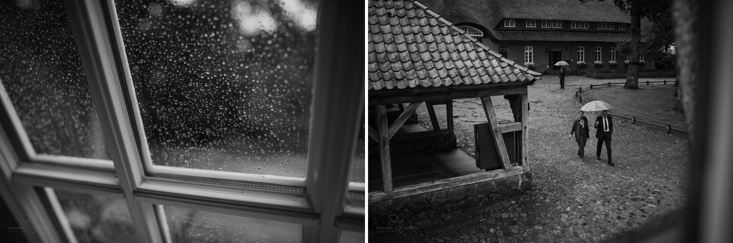 Regen, Regenschirm, Gut Thansen