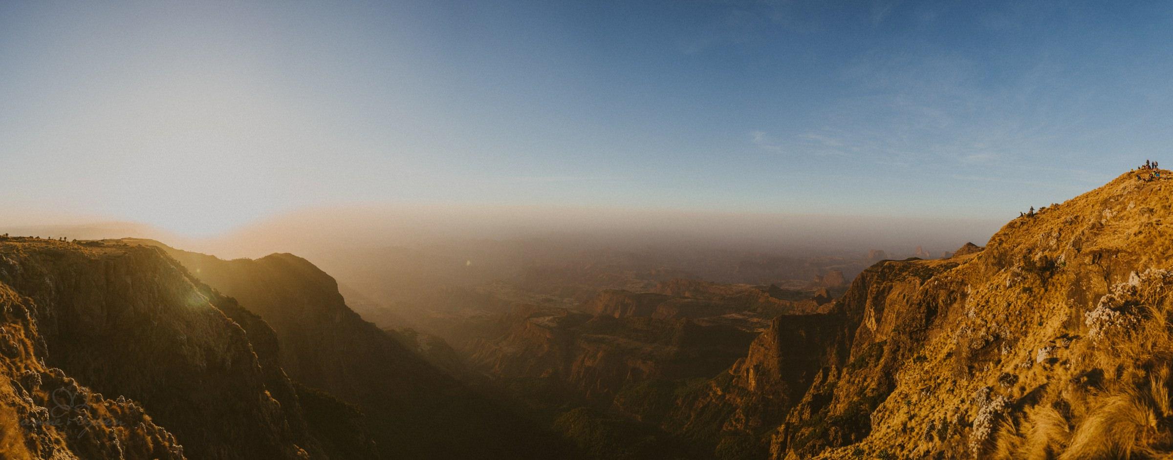 Panorama, Sonnenuntergang, Wanderer, Wanderung, Aussicht, View