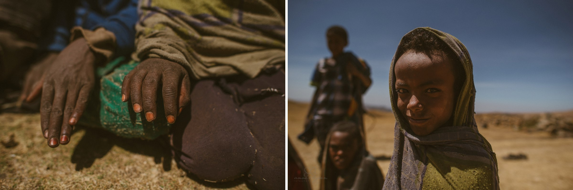 Portrait, Kinder, Wüste, Hände, Fingernägel, Afrika, Ethopia