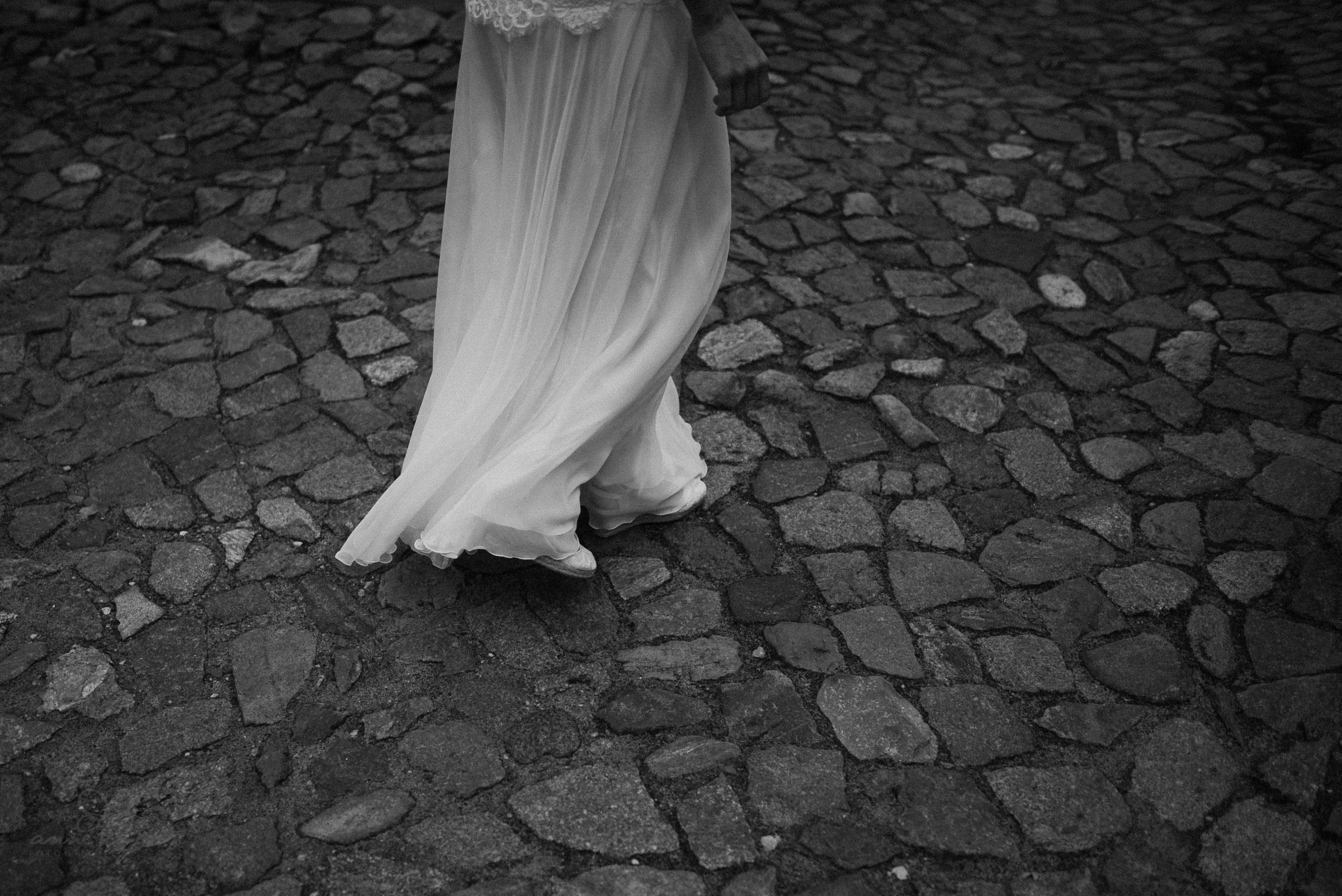 Kleid, Pflastersteine, Brautkleid, weiß