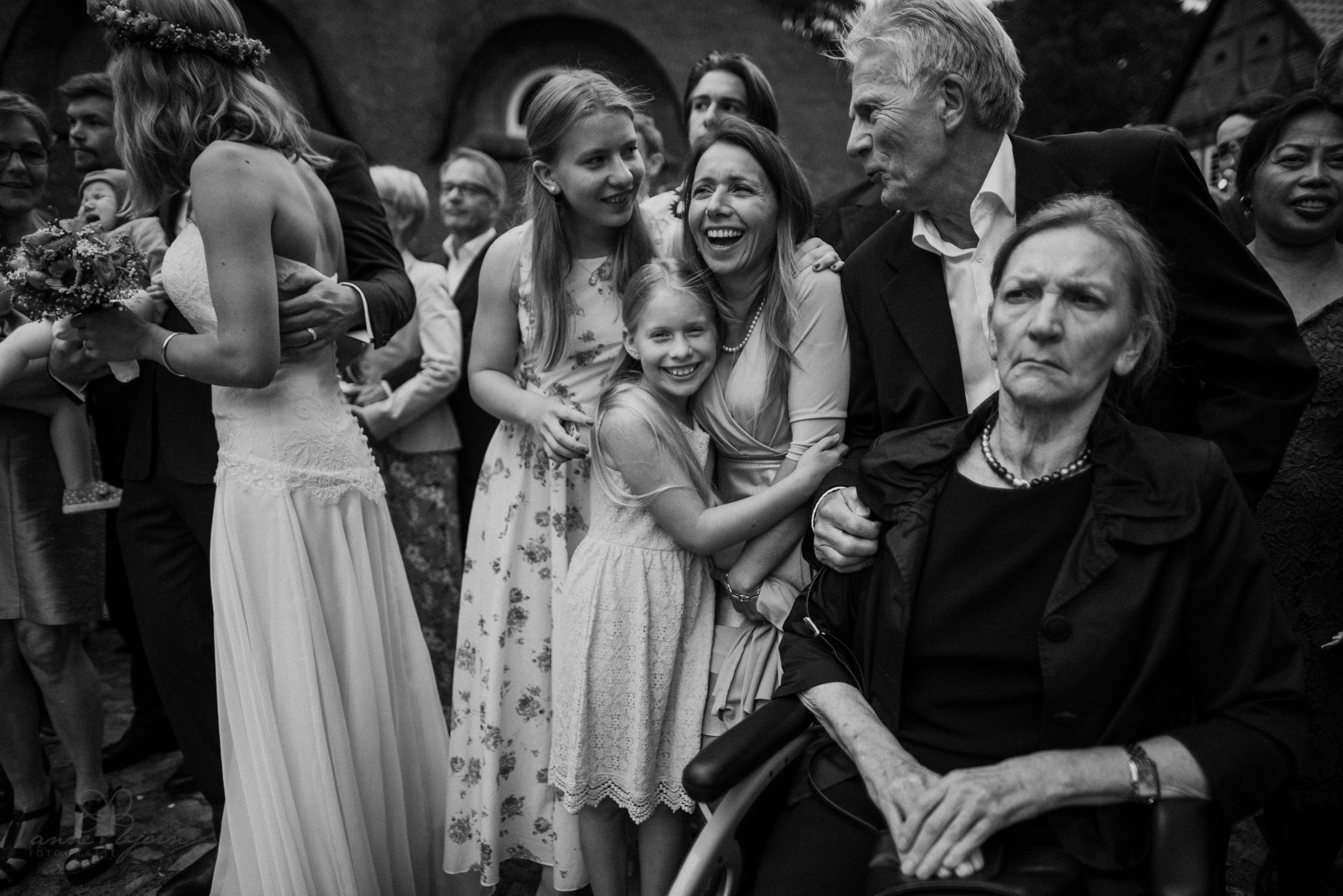 Familie, schwarz weiß, Nikon D750, 24 mm, spontan, Hochzeitsfotograf, Hochzeitsreportage