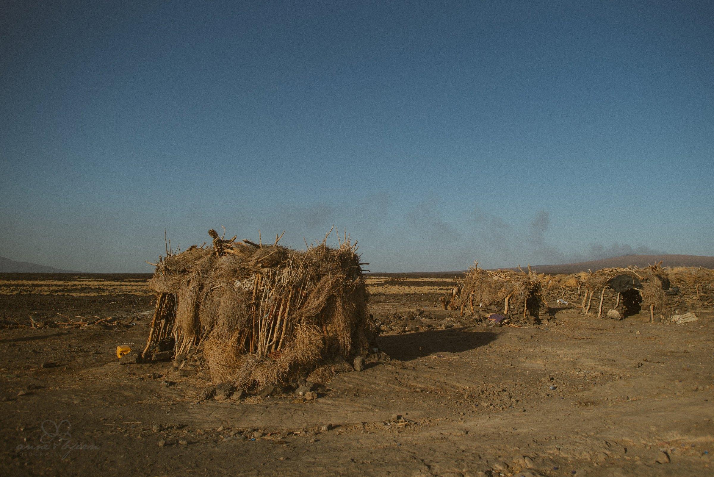 Hütten, Afar Region, Ethiopia, Echt, Wüste