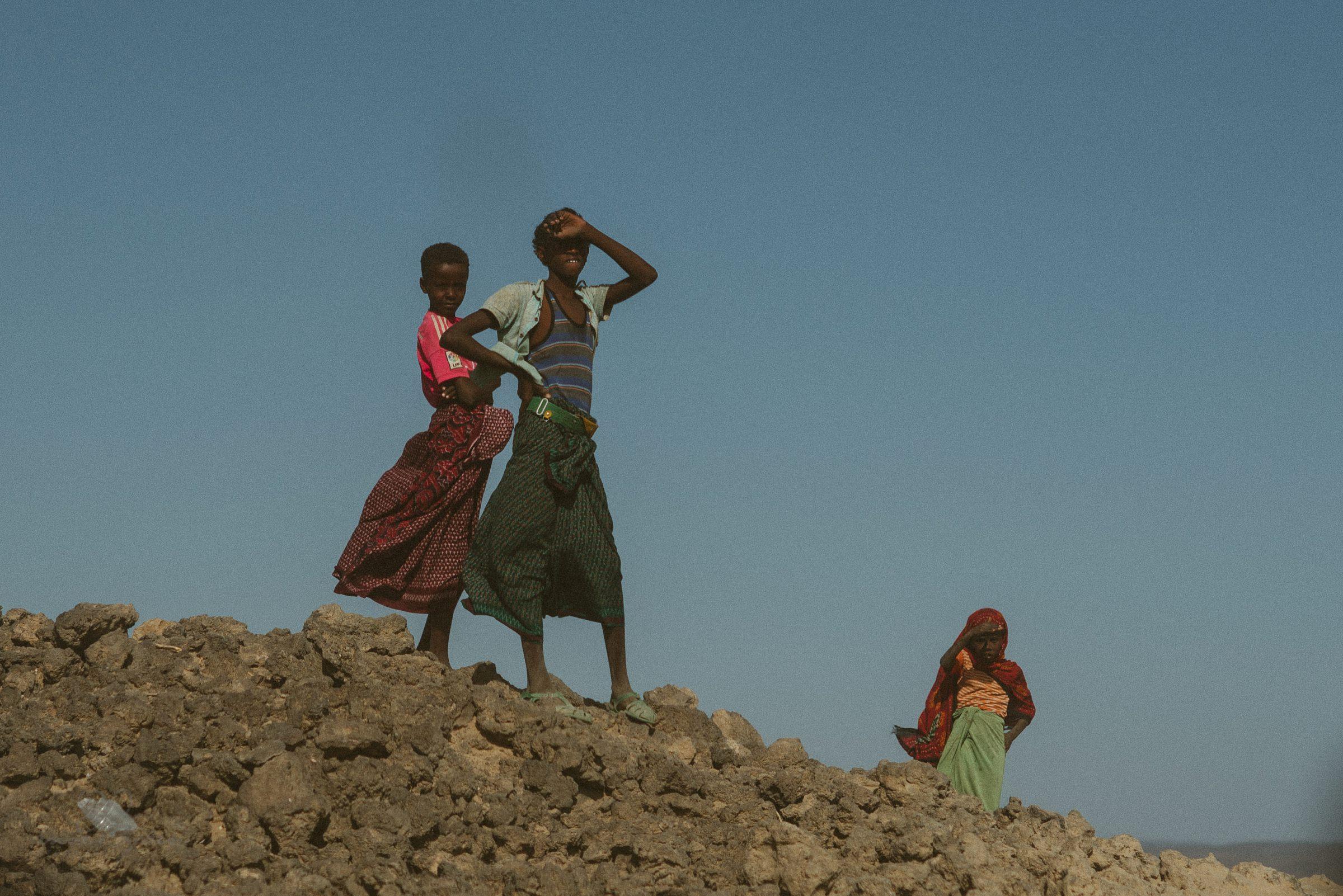 Afar Region, Einheimische, Wüste, Einwohner, Äthiopien