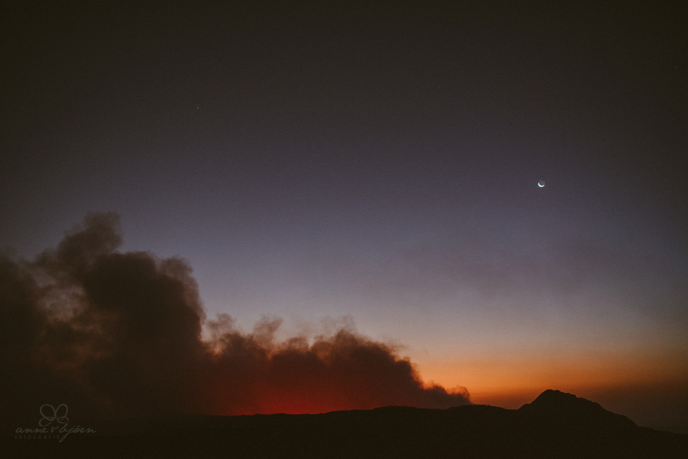 Farbstimmung, Sonnenaufgang, Lava, Rauch, Vulkan, Volcano, Ethiopia