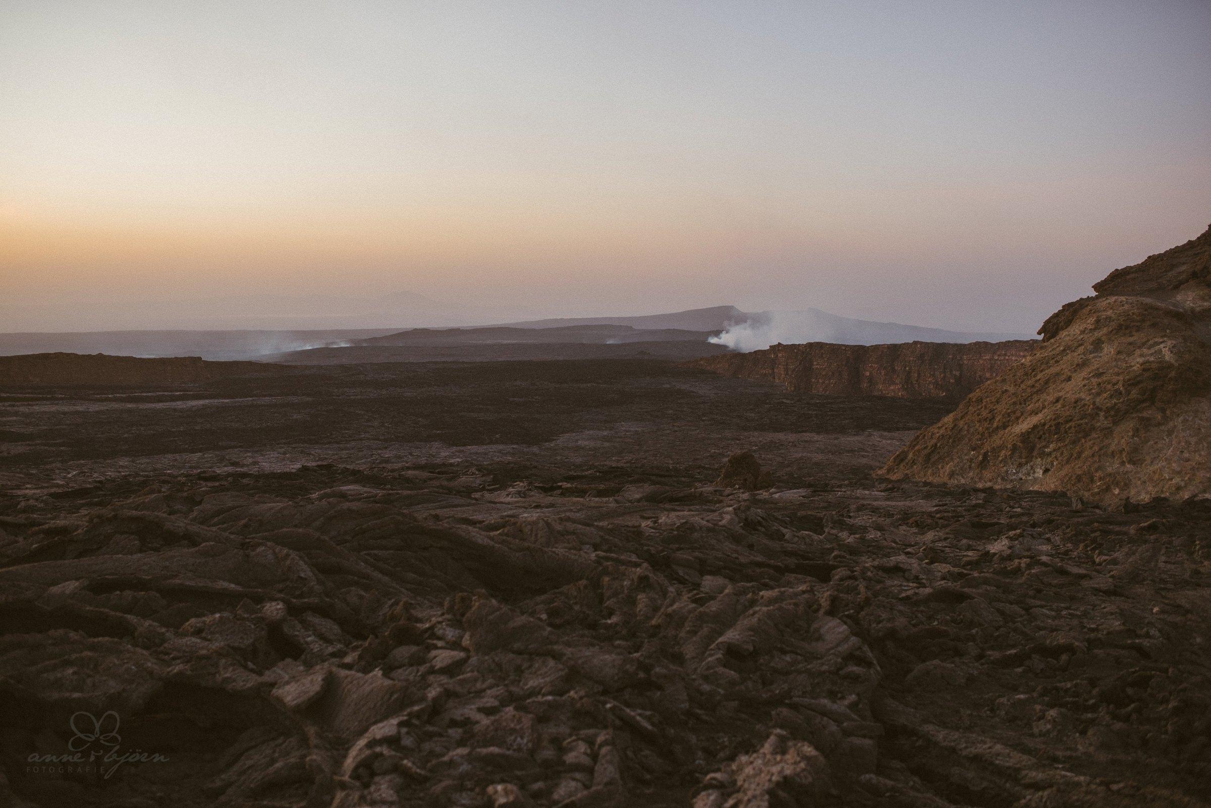 Vulkan, Volcano, Eritrea, Äthiopien, Rauch, Mondlandschaft