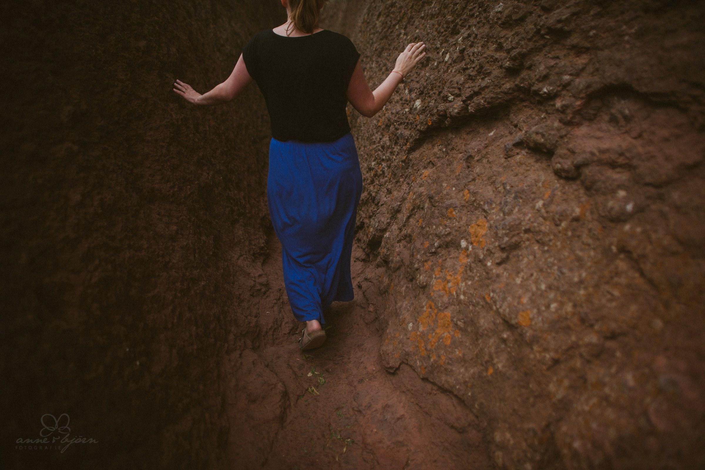 Spaziergang, Mood, Stimmung, blauer Rock, H&M