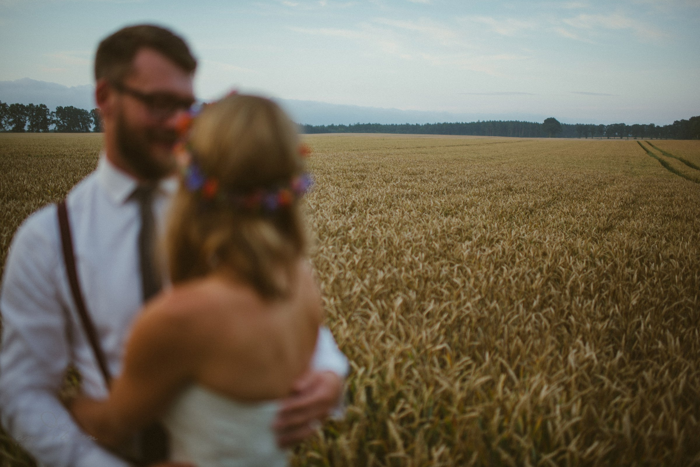 unscharf, schön, bunt, kreatives Hochzeitsbild